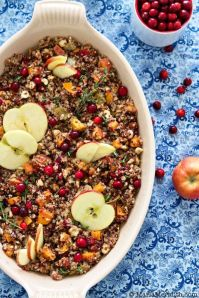 Quinoa stuffing with Apple, Sweet potato& hazelnuts