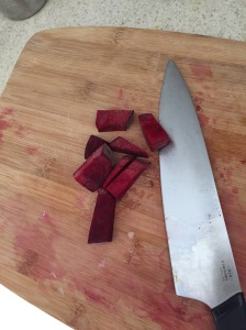 chopped beets