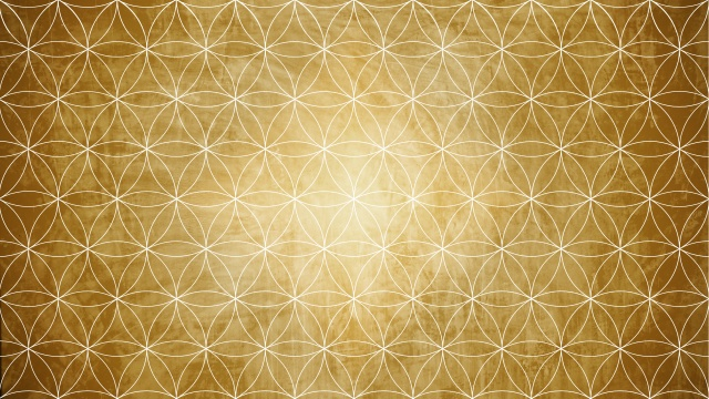 Sacred geometry in flower pattern shape on background